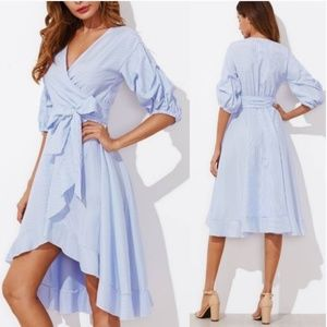 🦄HP🦄Gathered Sleeve wrap dress L & XL Avail🆕💞